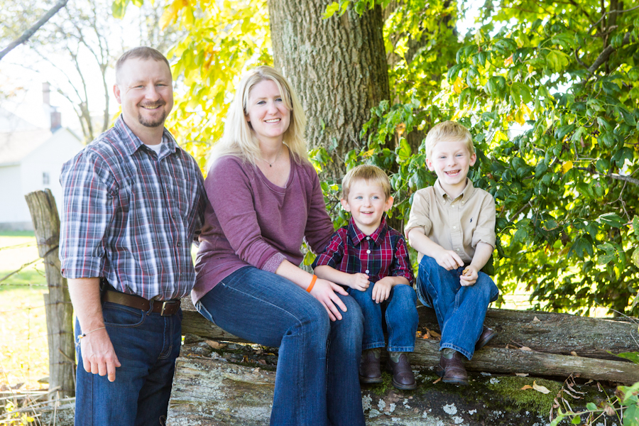 Team member Dr. Rudnick with her two sons and her husband
